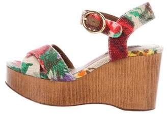Dolce & Gabbana Floral Canvas Wedges