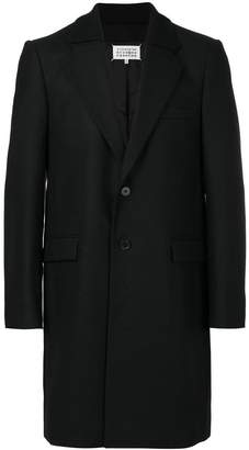 Maison Margiela ribbed collar coat