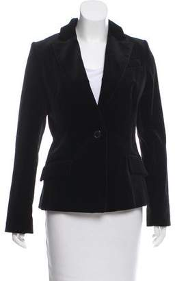 Milly Velvet Notch-Lapel Blazer w/ Tags