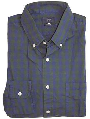 J.Crew J. Crew Factory - Men's Tall - Regular Fit - Gingham Plaid Washed Cotton Shirt