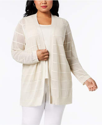 Calvin Klein Plus Size Sheer Cardigan