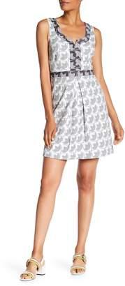Trina Turk trina Lucenda Split V-Neck Dress