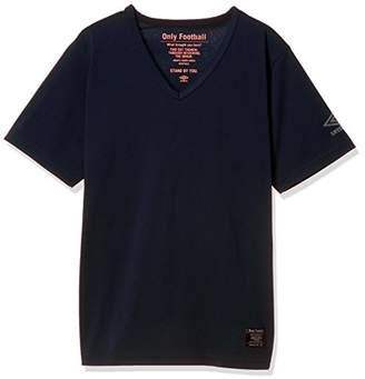 Umbro (アンブロ) - (アンブロ) UMBRO (アンブロ) umbro サッカー 綿Tシャツ ULULJA63 [ボーイズ] ULULJA63 NVY ネイビー M