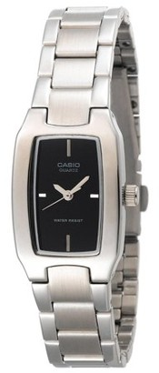Casio Women's Pink Dial Watch, Stainless Steel Bracelet