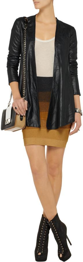 Veda Libra metallic leather jacket