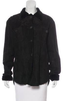 Trilogy Short Shearling Coat w/ Tags