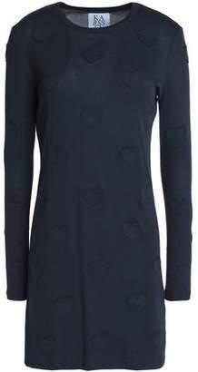 Zoe Karssen Appliquéd Cotton-Blend Jersey Mini Dress