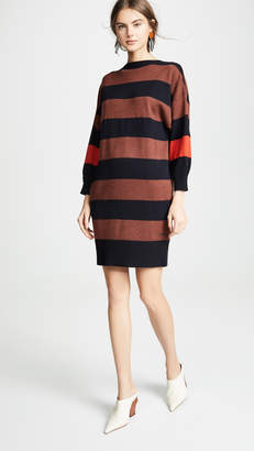 Victoria Victoria Beckham V Back Striped Dress