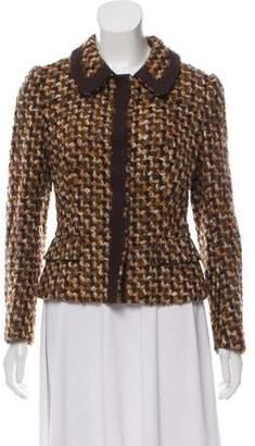 Prada Virgin Wool Patterned Blazer