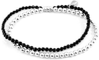 ANCHOR & CREW - Black Spinel Harmony Silver & Stone Bracelet