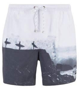 f8985ffe16 BOSS Photo-print swim shorts in quick-drying fabric