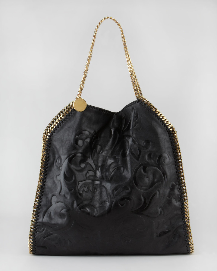 Stella McCartney Damask-Embossed Falabella Tote Bag