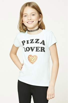 Forever 21 Girls Pizza Graphic Top (Kids)