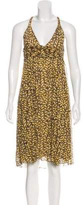 Diane von Furstenberg Silk Printed Midi Dress