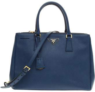 Prada Lux Double Zip Tote Saffiano Medium Bluette Blue