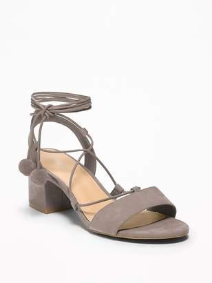 Old Navy Sueded Low Block-Heel Sandals for Women