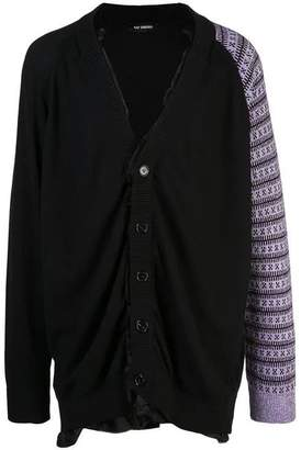 Raf Simons Cotton cardigan with contrast sleeve