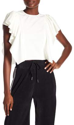 OnTwelfth Draped Flounce Top