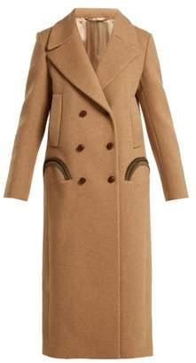Blazé Milano - Woodland Double Breasted Wool Coat - Womens - Camel