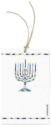 Set of 12 Menorah Gift Tags