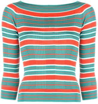 Fendi stripes knit top