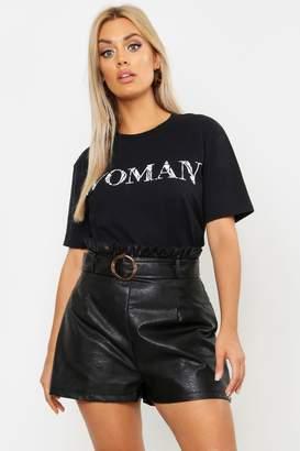 5104ca4a4bd2 boohoo Plus Animal Woman Oversized T-Shirt