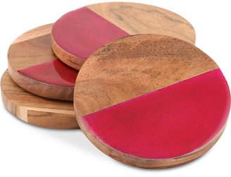 Thirstystone Closeout! Enamel & Wood Coasters, Set of 4