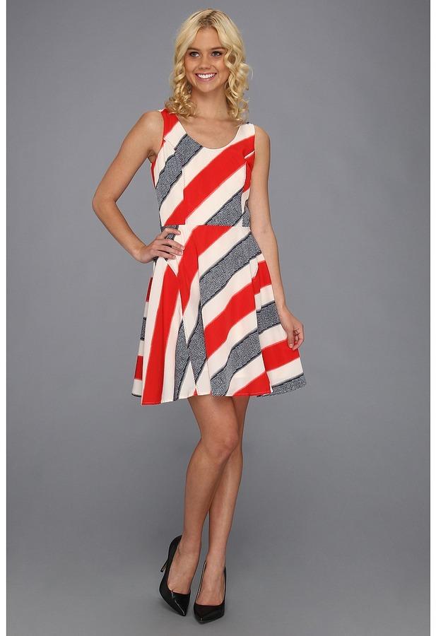 BB Dakota Gwynn Dress (Midnight Blue/True Red) - Apparel