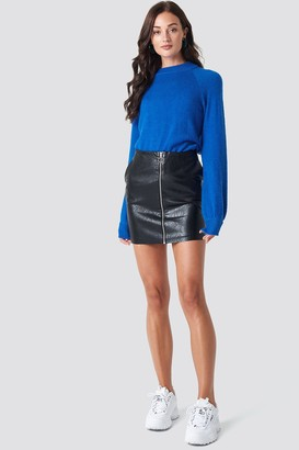 Rut & Circle Rut&Circle Pu Zip Pocket Skirt Black