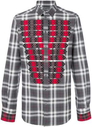 Dolce & Gabbana tartan detail checked shirt