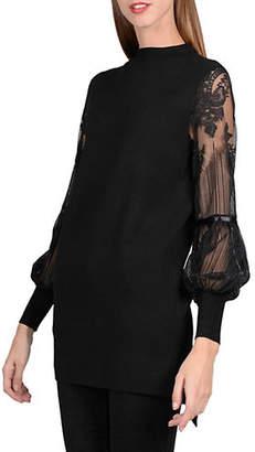 Molly Bracken Lace Sleeve Sweater Dress