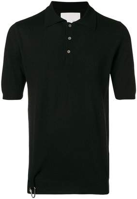 Matthew Miller knitted merino and cashmere polo top