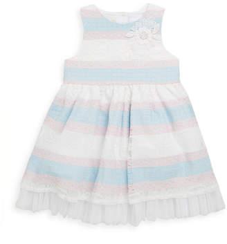 Laura Ashley Stripe Lace Dress