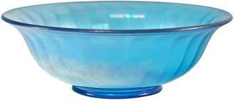 One Kings Lane Vintage Blue Iridescent Paneled Bowl - Design Line
