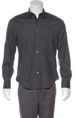 John Varvatos Check Pattern Button-Up Shirt