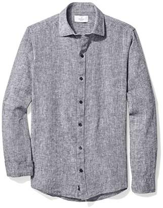 Buttoned Down Men's Fitted Spread-Collar Sport Shirt