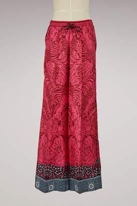 Mary Katrantzou Tarot Silk Wide Leg Pants