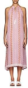Natalie Martin Women's Marlien Zigzag-Print Silk Maxi Dress - Light, Pastel pink