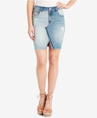 Jessica Simpson Adorn Ripped Denim Skirt