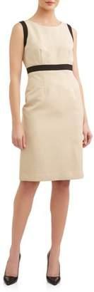 Evan Picone Black Label by Women's Light Contrast Dress
