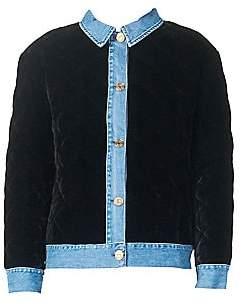 Sandro Women's Quilted Velvet Jacket