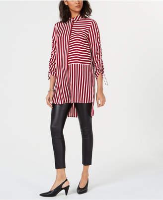 Bar III Striped High-Low Tunic, Created for Macy's