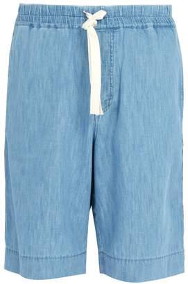 Gucci Chambray side-stripe shorts