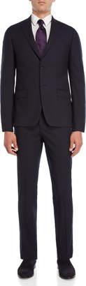 John Varvatos Two-Piece Navy Wool Pinstripe Suit