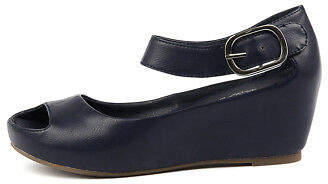 I Love Billy New Tindol Navy Womens Shoes Casual Sandals Heeled