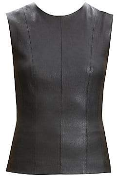 Theory Women's Bristol Leather Shell Top