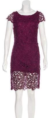 Alice + Olivia Guipure Lace Mini Dress