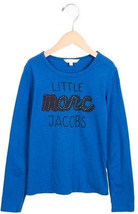 Little Marc Jacobs Little Marc Jacobs Girls' Logo Print Long Sleeve Top