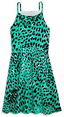 7ba011f76 Aqua Girls' Animal Print Halter Skater Dress, Big Kid - 100% Exclusive