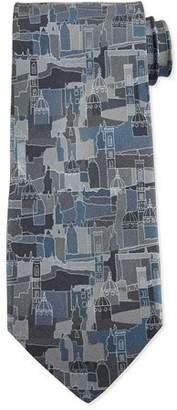 Salvatore Ferragamo Florence Printed Silk Tie, Gray $190 thestylecure.com